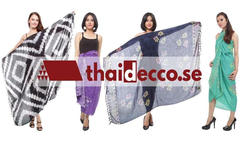 Sarong | Billiga saronger online på nätet | Köp här på Thaidecco!