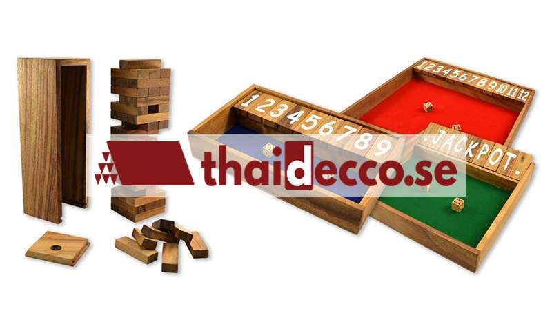 Träspel från Thailand | Thailändska handgjorda sällskapsspel