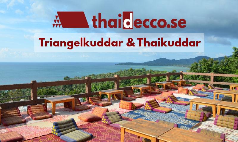 Triangelkudde, Thaimadrass, Thailändsk solbädd, exotisk golvdyna…