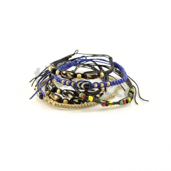 Knytarmband - Beige/sandfärgad - En dekoration