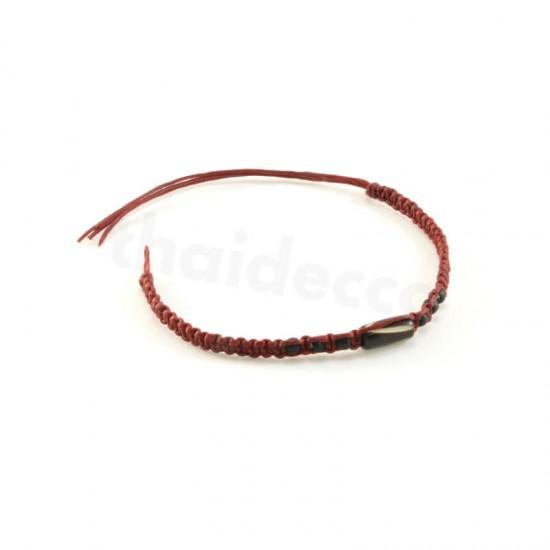 Knytarmband - Rött