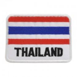 Broderad flagga Thailand - Runda hörn