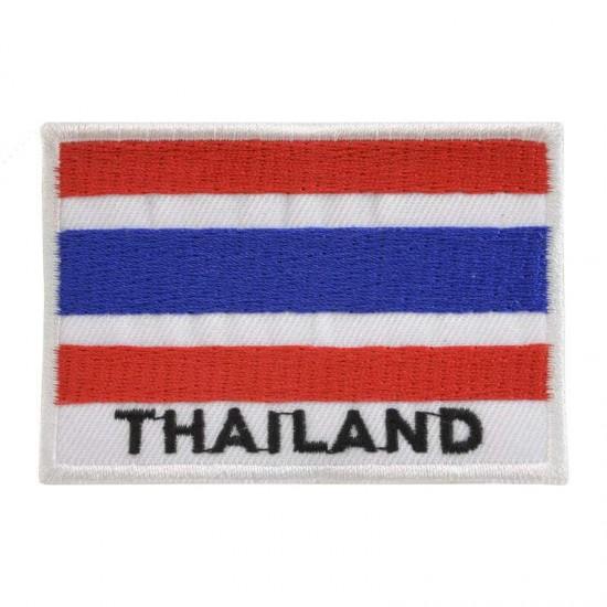 Broderad flagga Thailand - Raka hörn