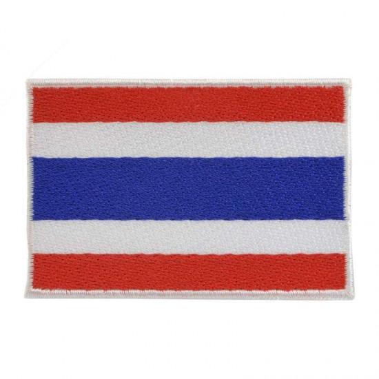 Broderad flagga Thailand - Raka hörn utan text