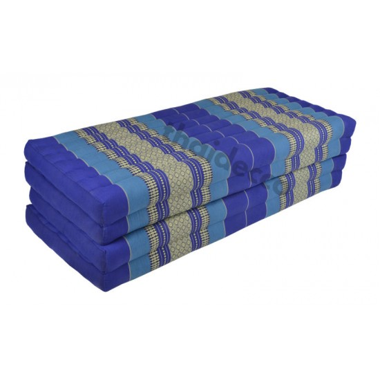 Floor mattress / Block model 190x110x10cm - Blue/White