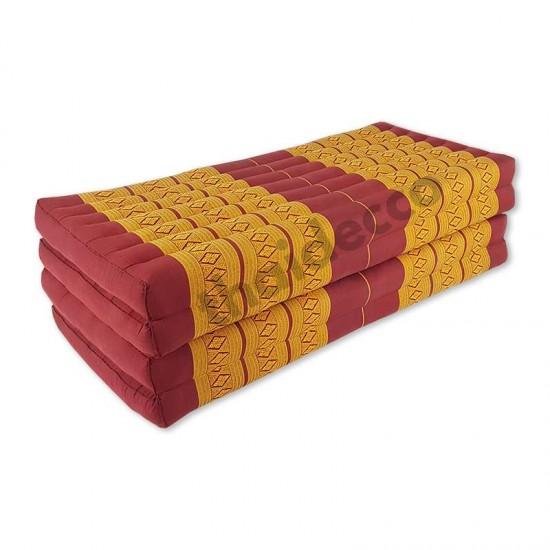 Madrass / Golvbädd blockmodell 190x110x10cm - Röd/Guld