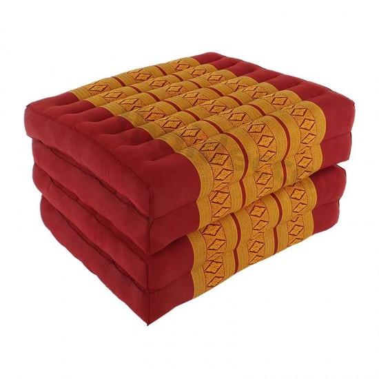 Floor mattress / Block model 190x55x10cm - Red/Gold