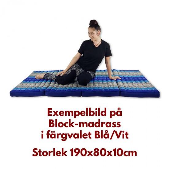 Madrass / Golvbädd blockmodell 190x80x10cm - Svart/Röd