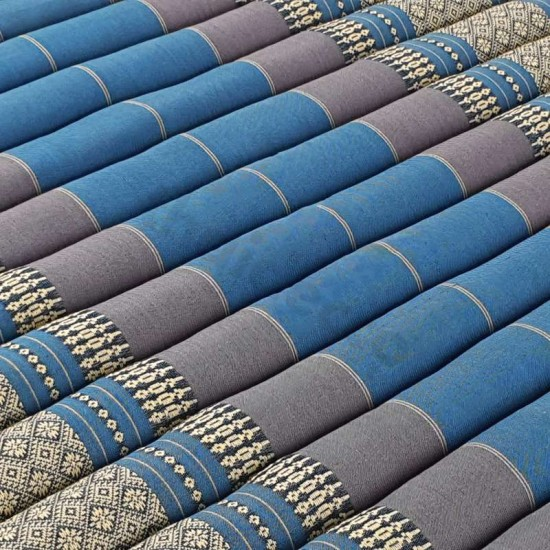 Floor mattress / Roll up model 200x100x5cm - Blue / Grey