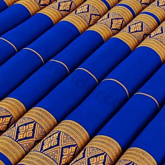 Golvmadrass & ihoprullbar golvbädd | 200x100x5cm | Blå & Guld färg