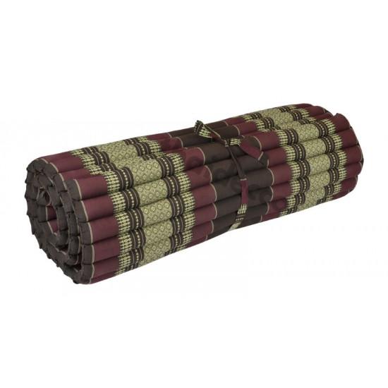 Floor mattress / Roll up model 200x100x5cm - Brown/Red