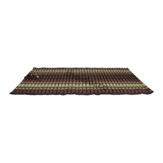 Golvmadrass & ihoprullbar golvbädd | 200x100x5cm | Brun & Röd färg