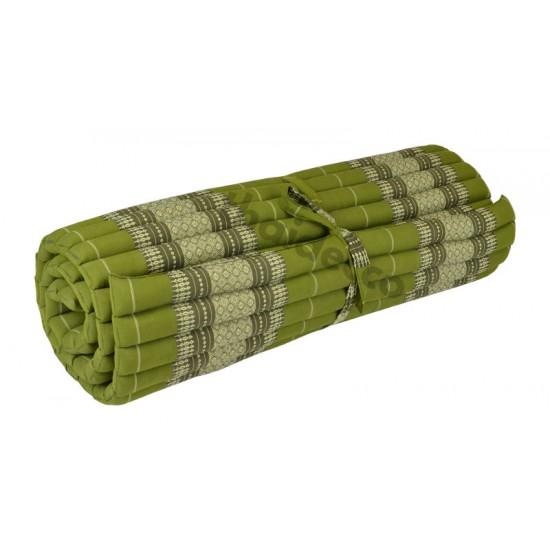 Floor mattress / Roll up model 200x100x5cm - Green/White