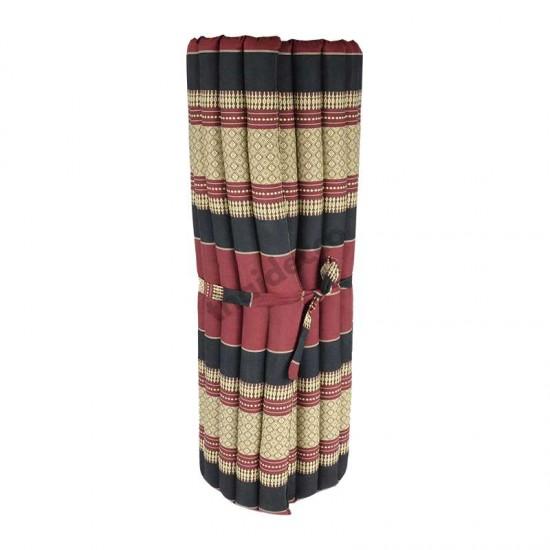 Golvmadrass & hoprullbar golvbädd | 200x100x5cm | Röd & Svart färg