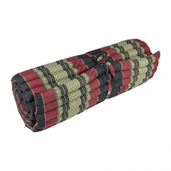 Floor mattress / Roll up model 200x100x5cm - Black/Red