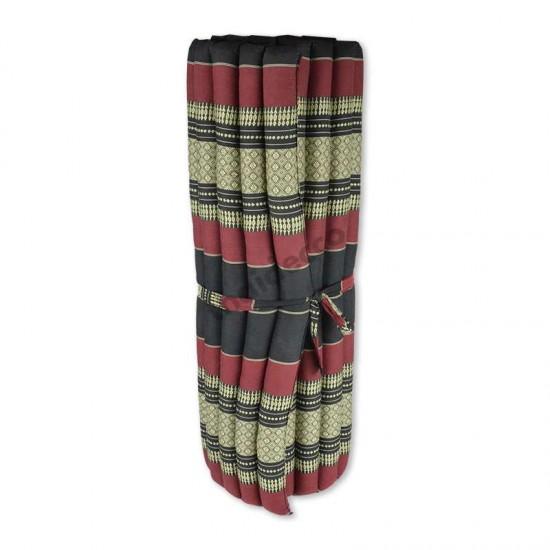 Golvmadrass & hoprullbar golvbädd | 200x100x5cm | Svart & Röd färg