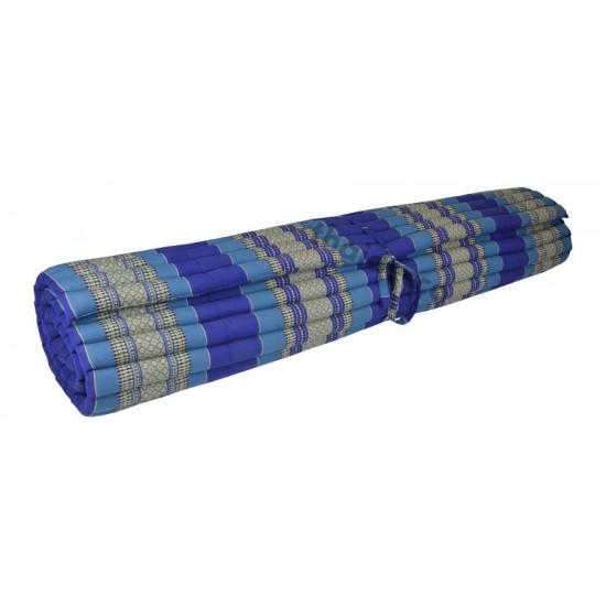 Floor mattress / Roll up model 200x180x5cm - Blue/White