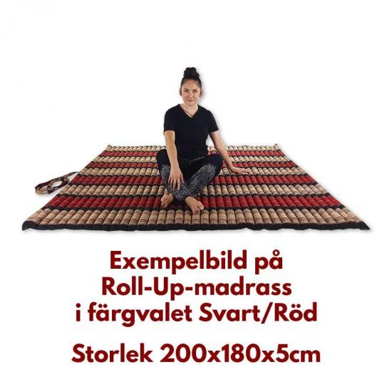 Golvmadrass | Stor golvbädd Rollup 200x180x5cm i Röd & Svart färg
