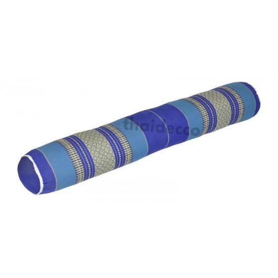 Bolster neck support cushion 110cm - Blue/White