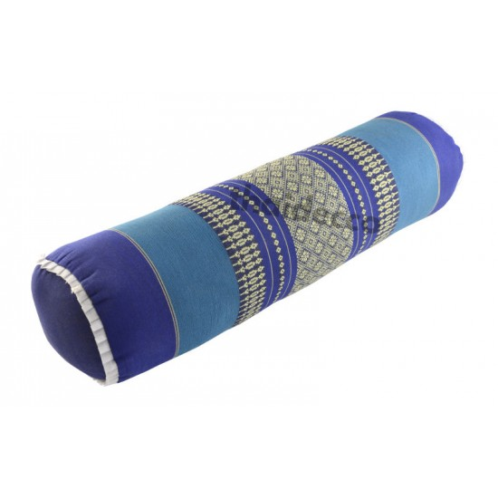 Bolster / Stoppad rullkudde 55cm - Blå/Vit