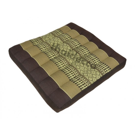 Sitting floor cushion 39x39x5cm - Brown/Beige