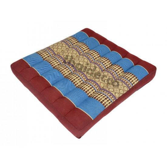 Sitting floor cushion 39x39x5cm - Red/Blue