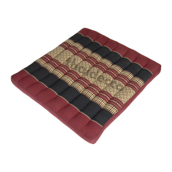 Sitting floor cushion 50x50x5cm - Red/Black