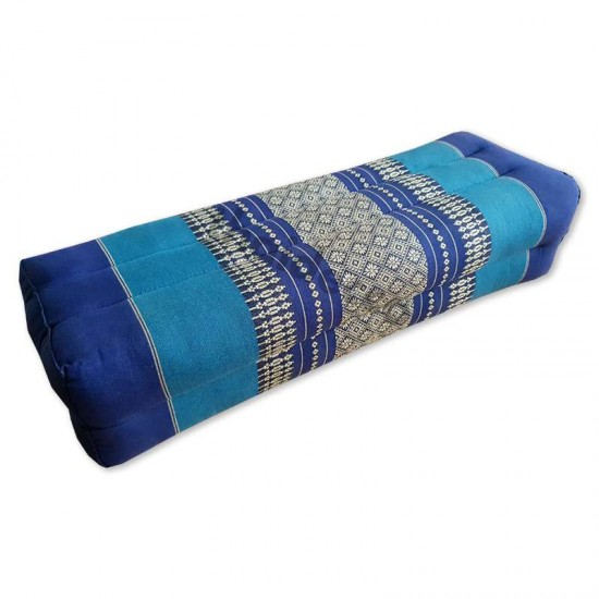 Block pillow 52x18x12cm - Blue/White