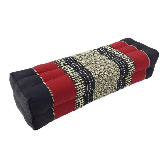 Block pillow 52x18x12cm - Black/Red