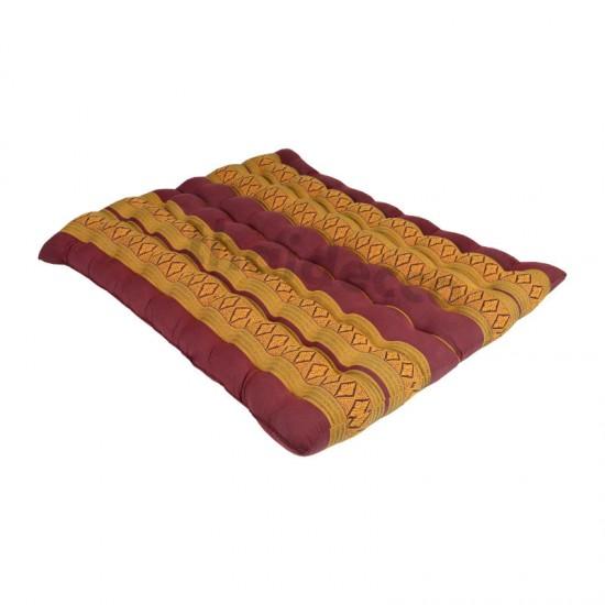 Zabuton mat / sitting cushion 80x70x8cm - Red/Gold