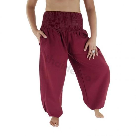 Balloon pants Cotton - Dark Red