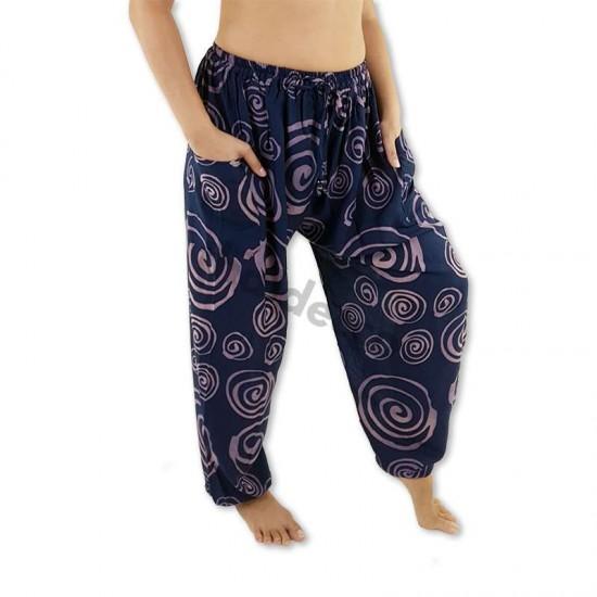 Aladdinbyxa Spiral - Mörkblå