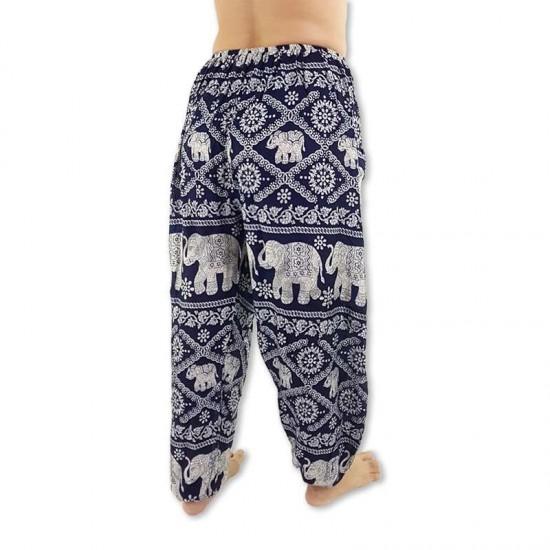 Aladdin Pants Elephant - Dark Blue
