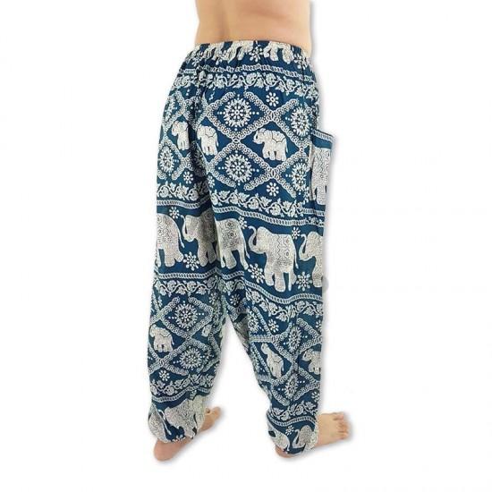 Aladdin Pants Elephant - Teal