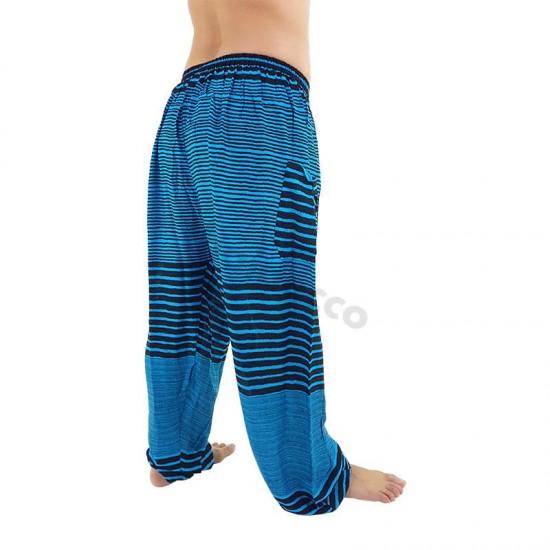 Aladdin Pants Stripes - Blue