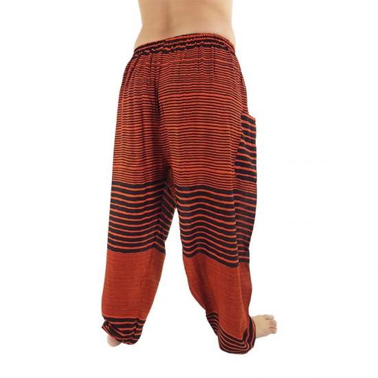 Aladdin Pants Stripes - Orange