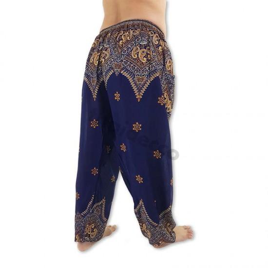 Aladdinbyxa Påfågelblomma - Mörkblå