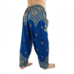 Aladdinbyxa Påfågelblomma - Blå