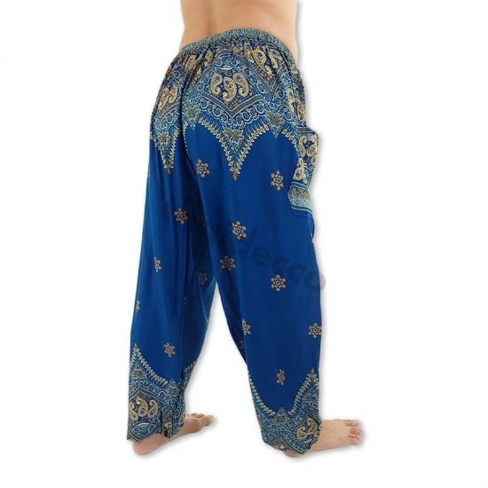 Aladdin Pants Peacock Flower - Blue