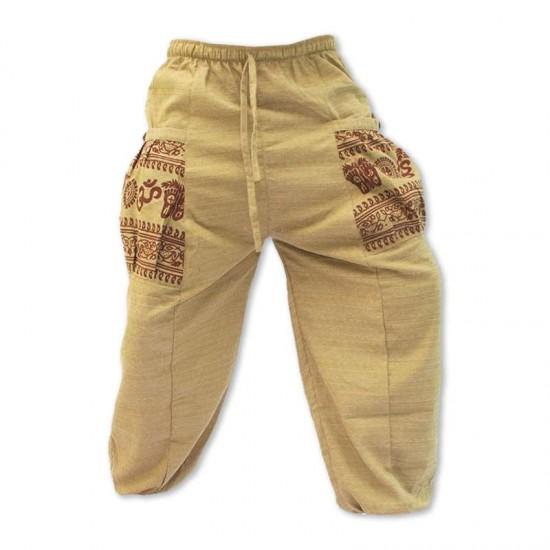 Aladdinbyxa Bomull Om-mönster - Khaki