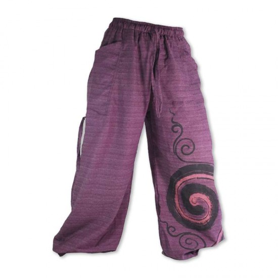 Aladdin pants - Heavy cotton - Purple