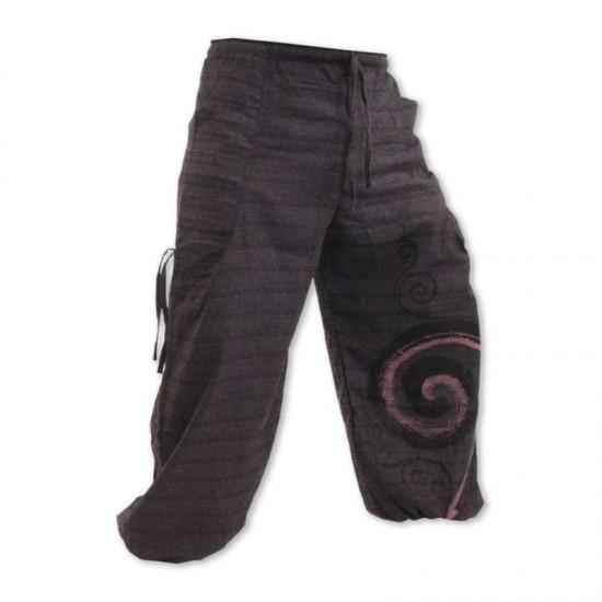 Aladdinbyxa Bomull Spiral - Mörkgrå