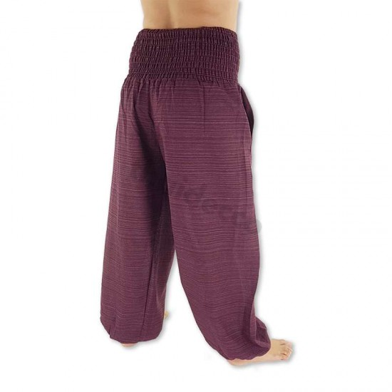 Smock pants Cotton - Dark Red
