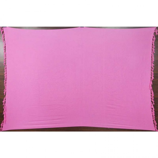 Pink sarong in plain color