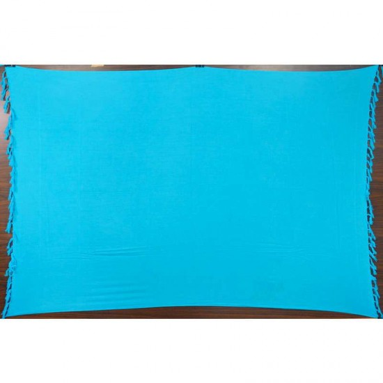Blue sarong in plain color