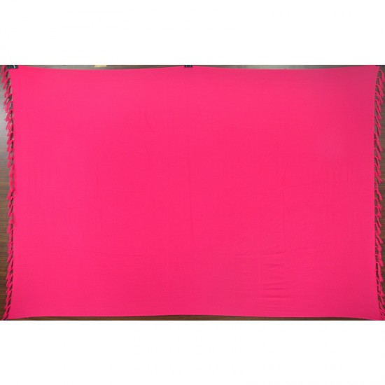 Cerise sarong in plain color