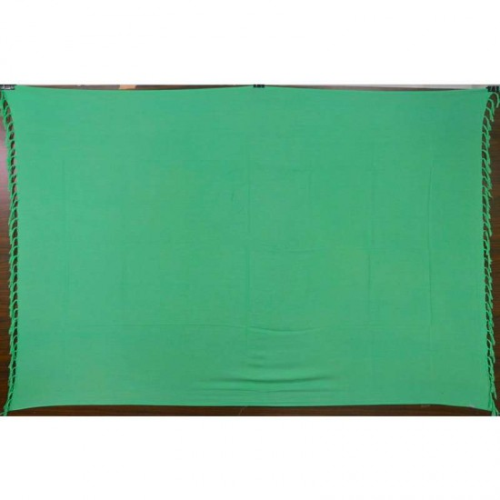 Green sarong in plain color