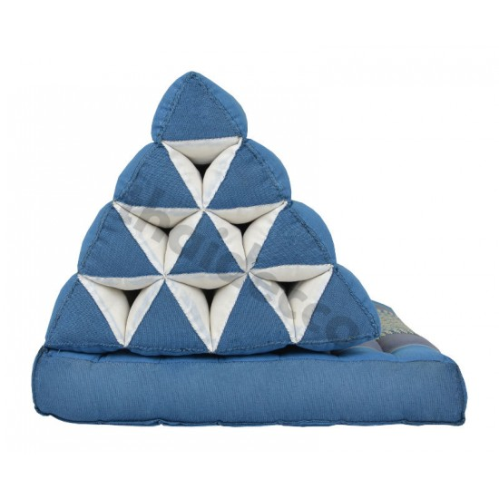 Thai pillow with one fold out  - Blue/Grey