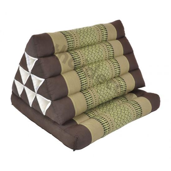 Trekantskudde / Thaikudde med en liggdel i färgen brun och beige