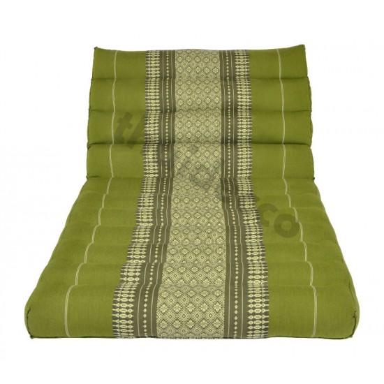 Trekantskudde / Thaikudde med en liggdel i färgen grön och vit